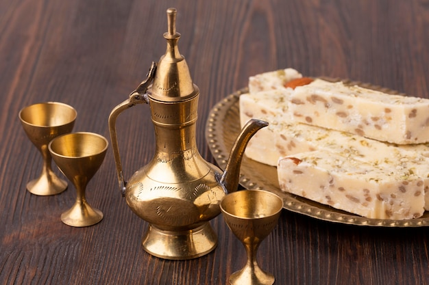 Nahaufnahme islamisches neujahrsgebäck Kostenlose Fotos