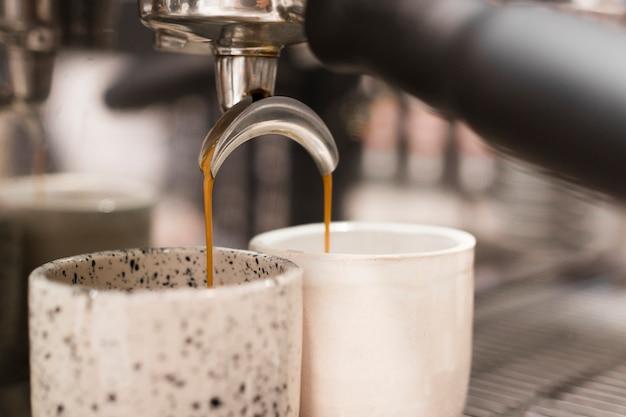 Nahaufnahme kaffeemaschine Kostenlose Fotos
