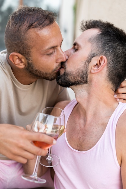 Küssen Nahaufnahme