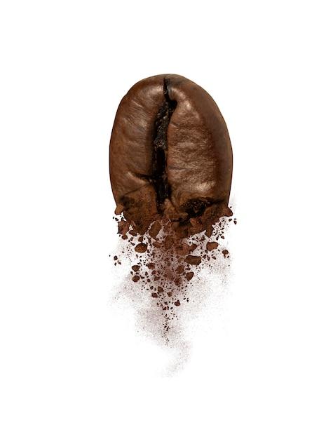 Nahaufnahme von kaffeebohnen-explosionen Premium Fotos