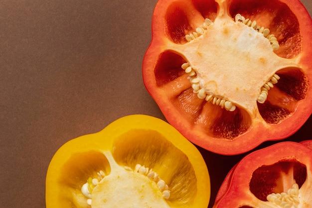Nahaufnahme von paprika mit kopierraum Kostenlose Fotos