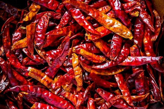 Nahaufnahme von trockenen paprikas Kostenlose Fotos