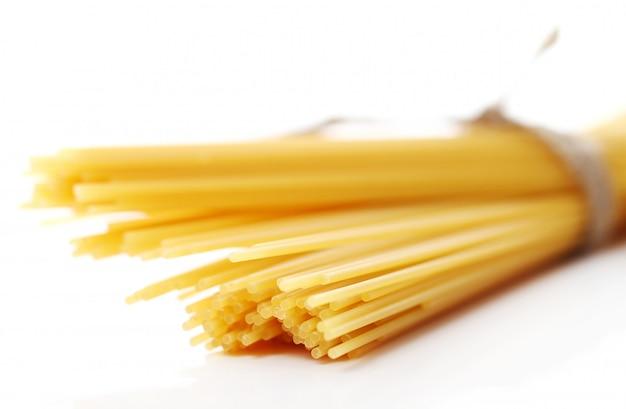 Nahaufnahme von ungekochten spaghetti Kostenlose Fotos