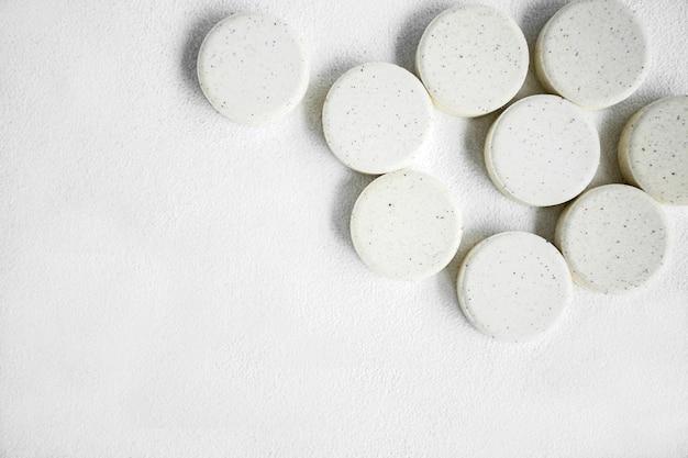 Nahaufnahme von weißen pillen Kostenlose Fotos