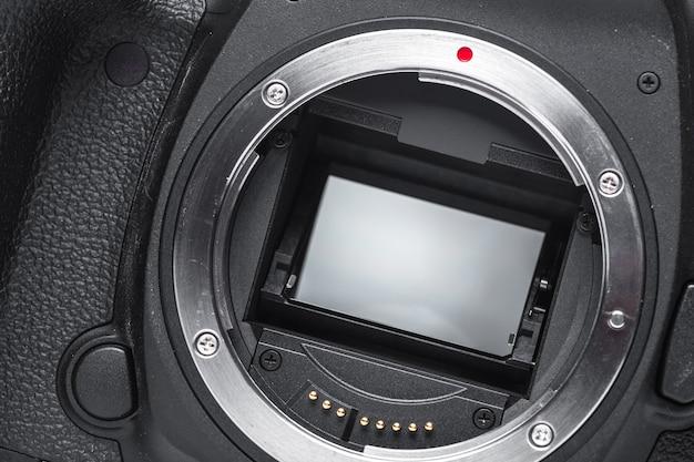 Nahaufnahmeansicht der digitalkamera Premium Fotos