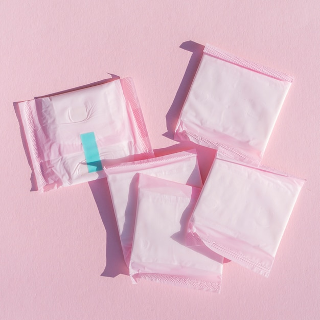 Nahaufnahmeauflagen im rosa verpackungsplastik Kostenlose Fotos