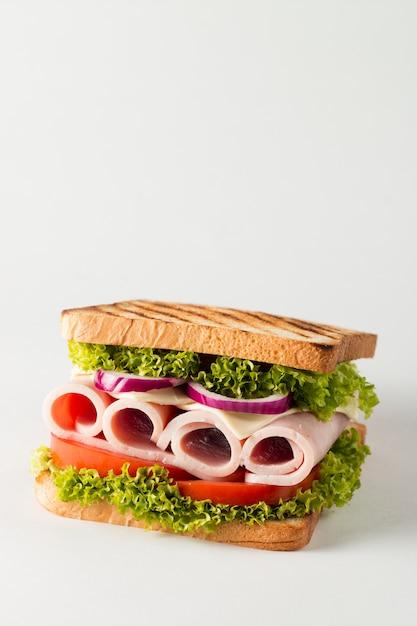 Nahaufnahmefoto eines club sandwiches. Premium Fotos