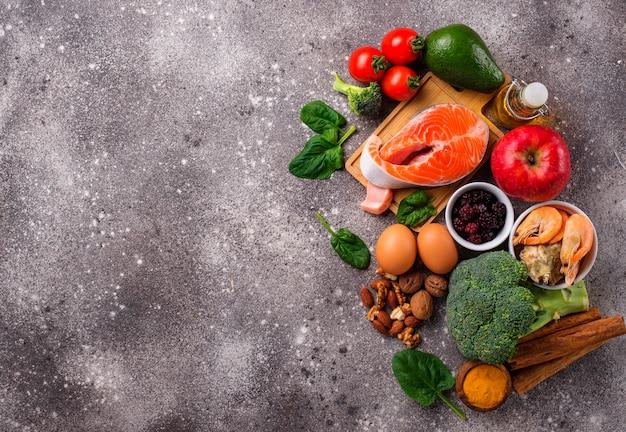 Nahrung für das gehirn und gutes gedächtnis Premium Fotos