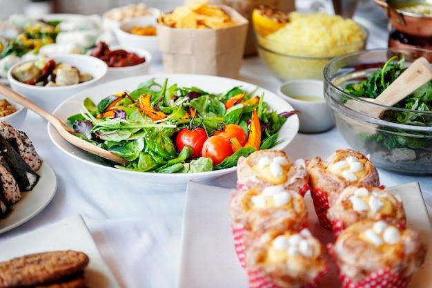 Nahrungsmittelmahlzeit-küche, die partei-konzept speist Kostenlose Fotos