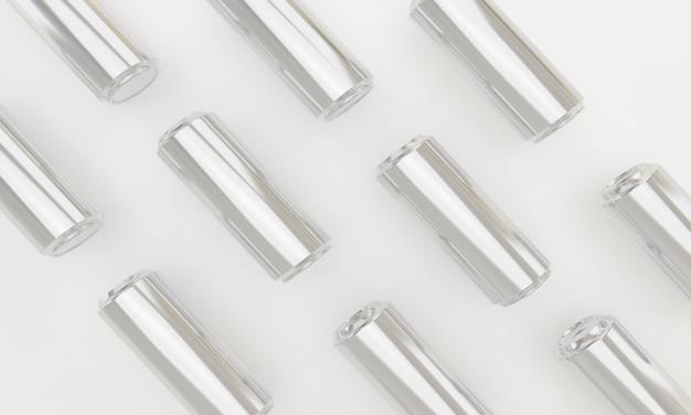 Nahtloses muster von kalten getränken in metalldosen Premium Fotos