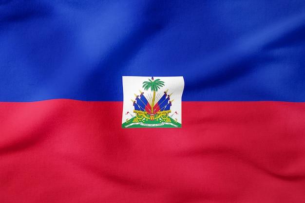 Nationalflagge von haiti - patriotisches symbol der rechteckigen form Premium Fotos