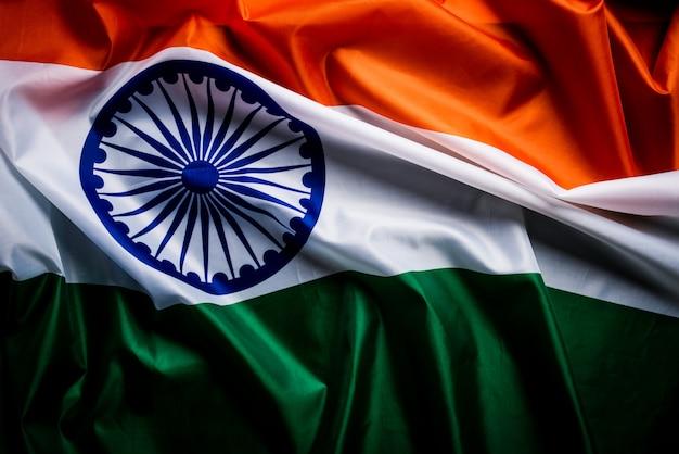 Nationalflagge von indien Premium Fotos