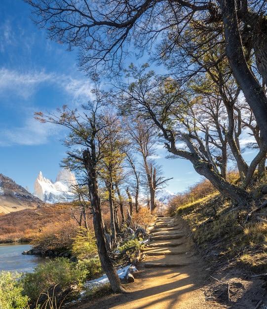 Nationalpark los glaciares, provinz santa cruz, patagonien, argentinien, montierung fitz roy. Premium Fotos