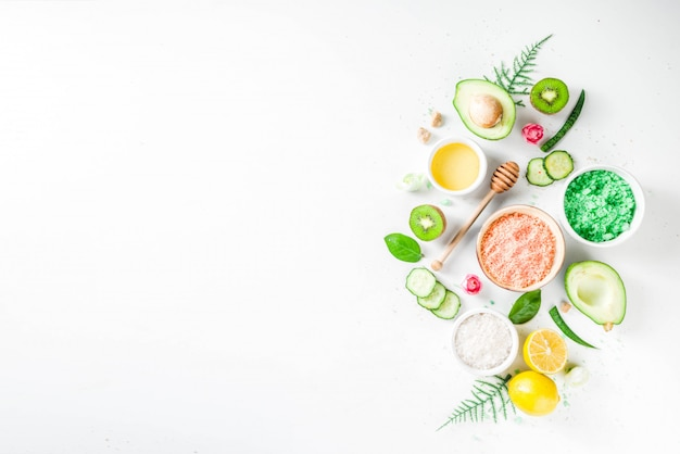 Natürliches und organisches kosmetisches konzept Premium Fotos