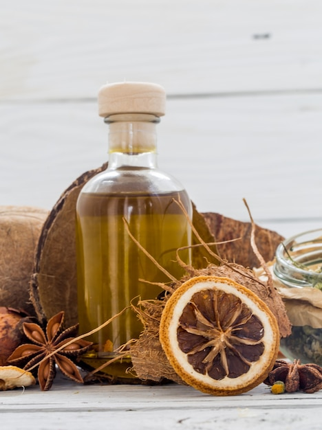 Naturkosmetik, umweltfreundliches produkt, aromatische creme und öl Kostenlose Fotos
