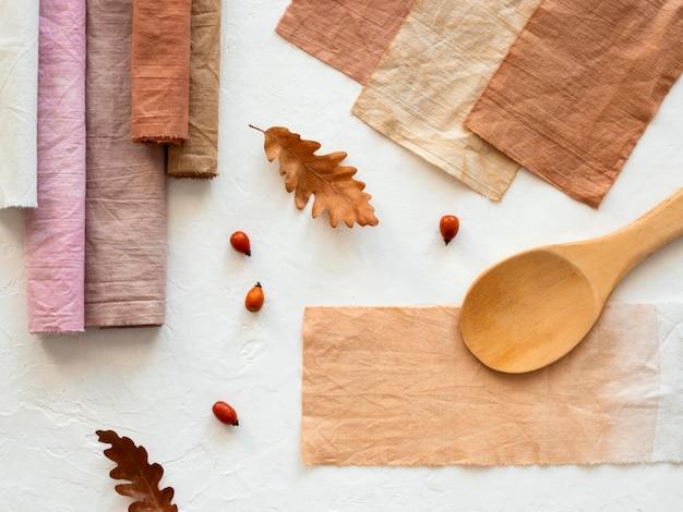 Naturpigment mit bio-sortiment Premium Fotos