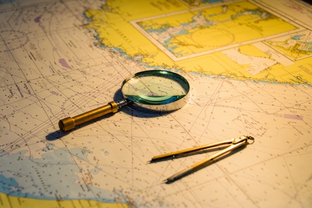 Navigationskarte Premium Fotos