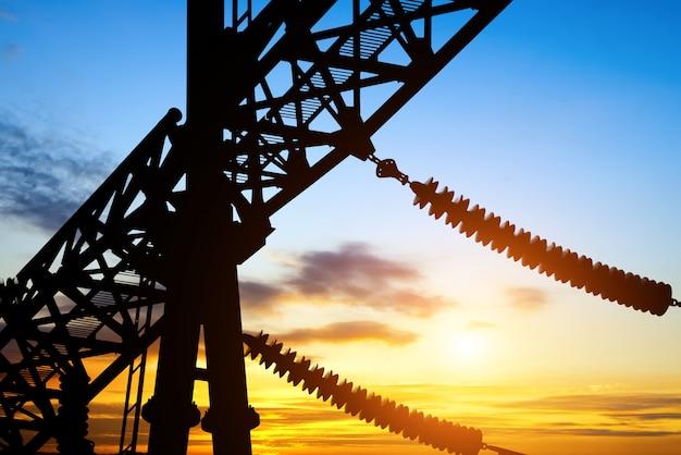 Nebenstellen-übertragungsgerät-silhouette Premium Fotos