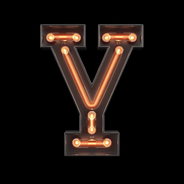 Neonlicht-alphabet a Premium Fotos