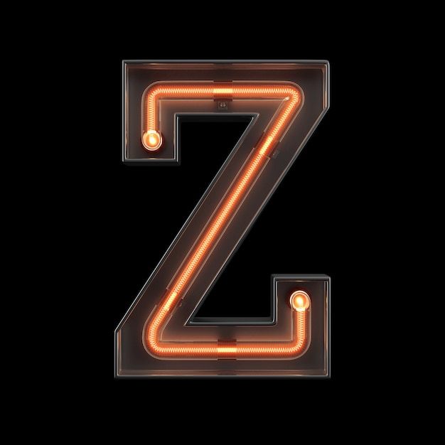 Neonlicht alphabet z Premium Fotos