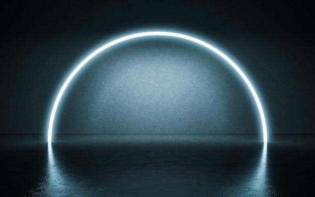 Neonlichter hintergrund. 3d-darstellung Premium Fotos