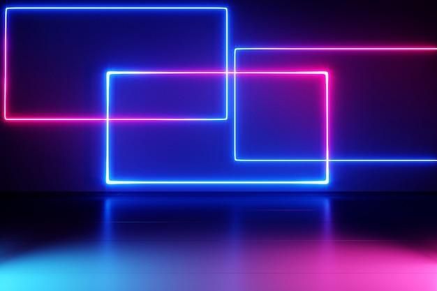 Neonlichter hintergrund. Premium Fotos