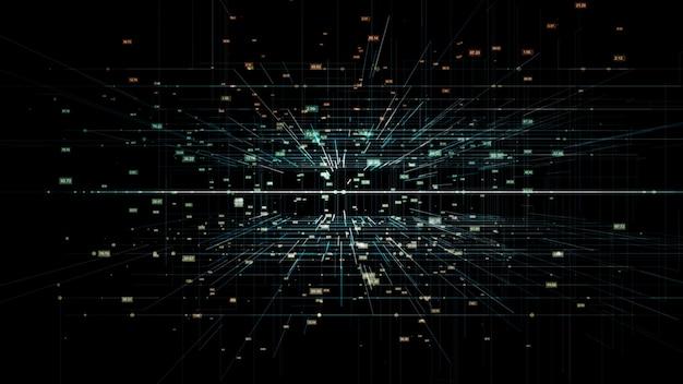 Netzwerkdatenhintergrund der digitaltechnik-3d Premium Fotos