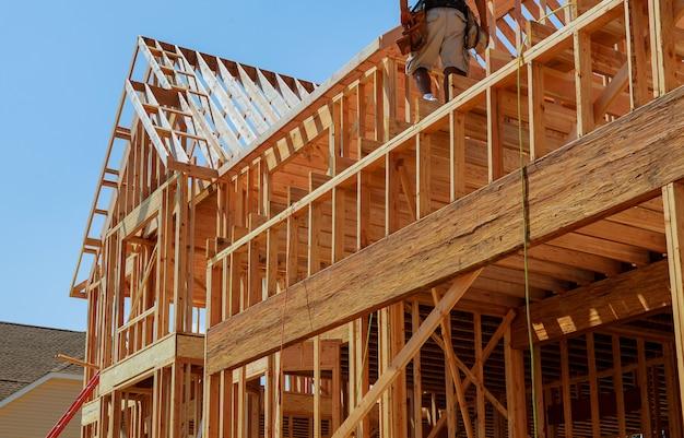 Neue häuser, die in nordamerika errichtet werden Premium Fotos
