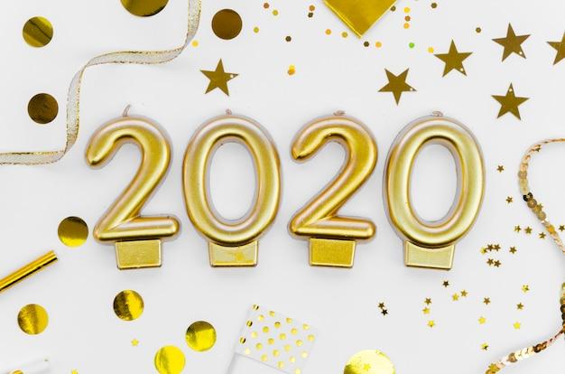 Neujahrsfeier 2020 und pailletten Kostenlose Fotos