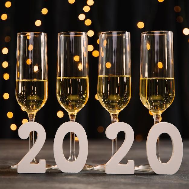 Neujahrsfeier mit champagner Kostenlose Fotos