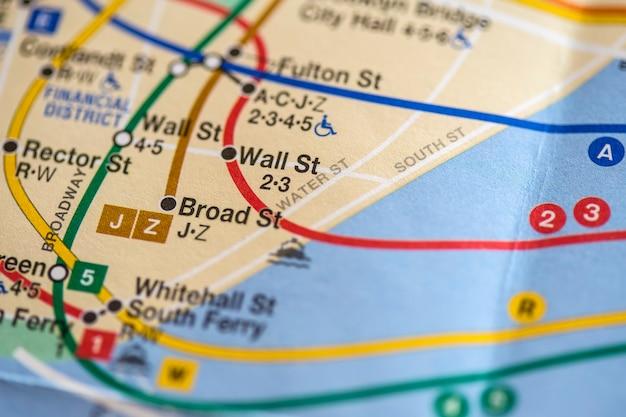 New york city karte Premium Fotos