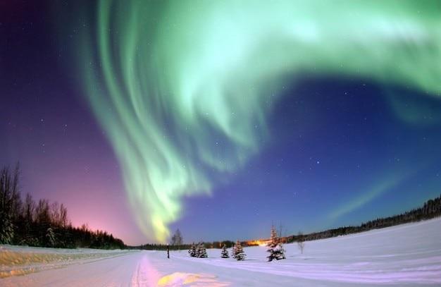 Nördlichen aurora nordlichter borealis pole Kostenlose Fotos