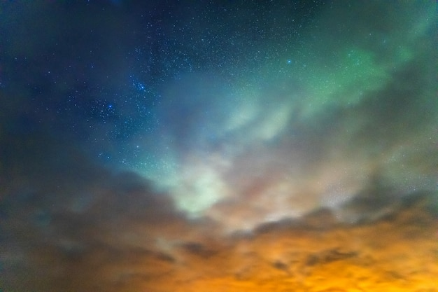 Nordlicht aurora borealis Premium Fotos