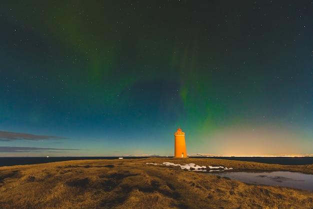 Nordlichter in island Premium Fotos