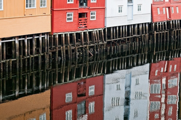 Norwegen trondheim europa Premium Fotos