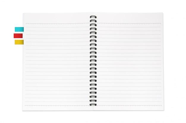 Notebook isoliert Premium Fotos