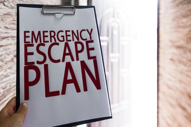 Notfall evakuierungsplan Premium Fotos