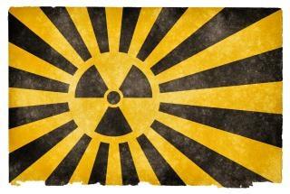 Nuklearen burst grunge flag Kostenlose Fotos