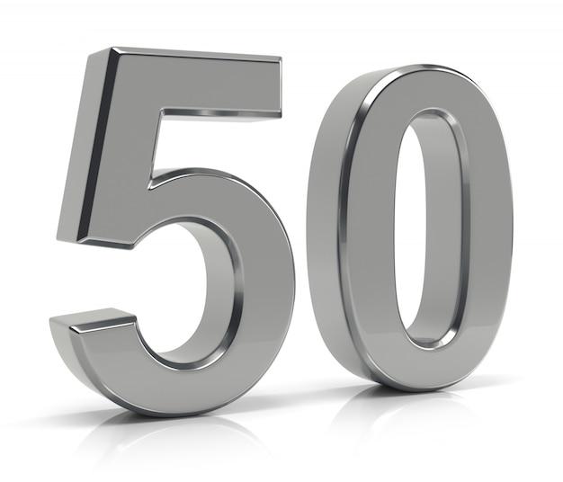 Nummer 50 Premium Fotos