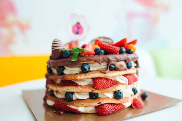 Obstkuchen Premium Fotos