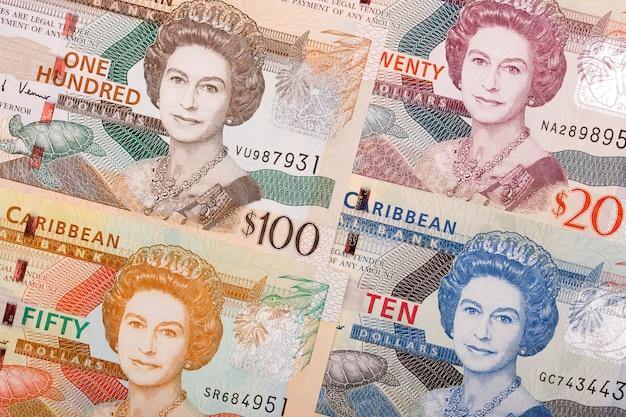 Östlicher karibischer dollar ein geschäftshintergrund Premium Fotos