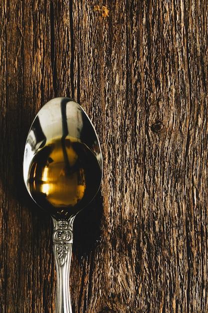 Olivenöl im löffel Kostenlose Fotos