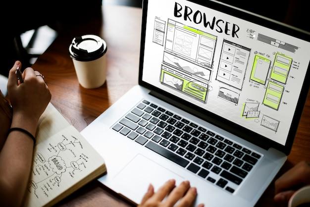 Online-browser Premium Fotos