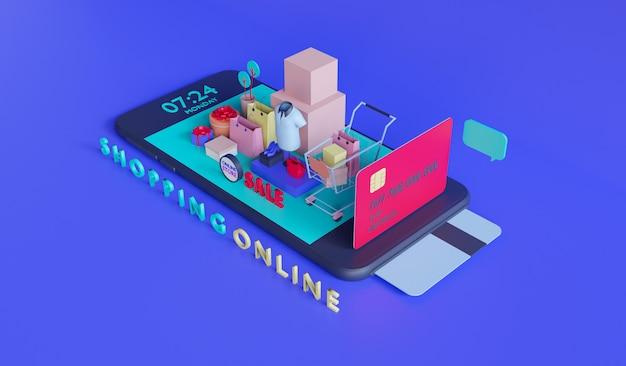 Online-shop für mobile anwendungen Premium Fotos
