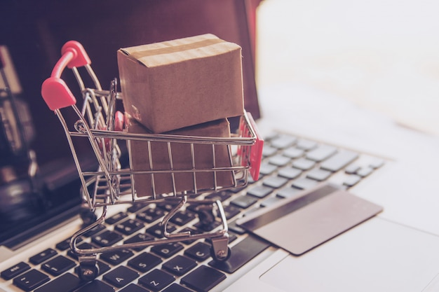 Online-shopping-konzept Premium Fotos