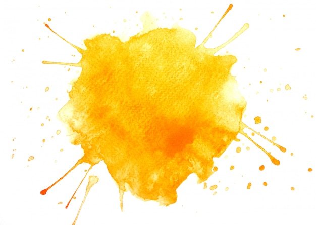 Orange aquarellfleck-farbenanschlag Premium Fotos