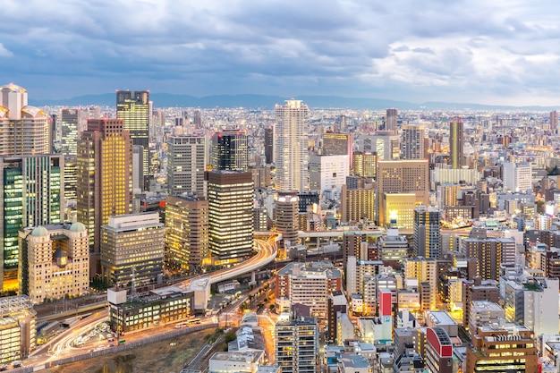 Osaka skylines Premium Fotos