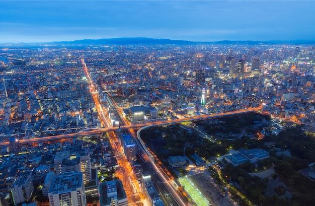 Osaka stadt von abeno harukas Premium Fotos