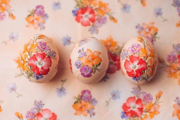 Ostern-set verzierte eier Kostenlose Fotos