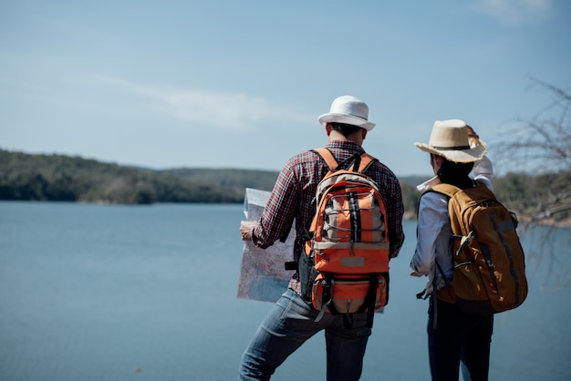 Paar familie zusammen reisen Kostenlose Fotos